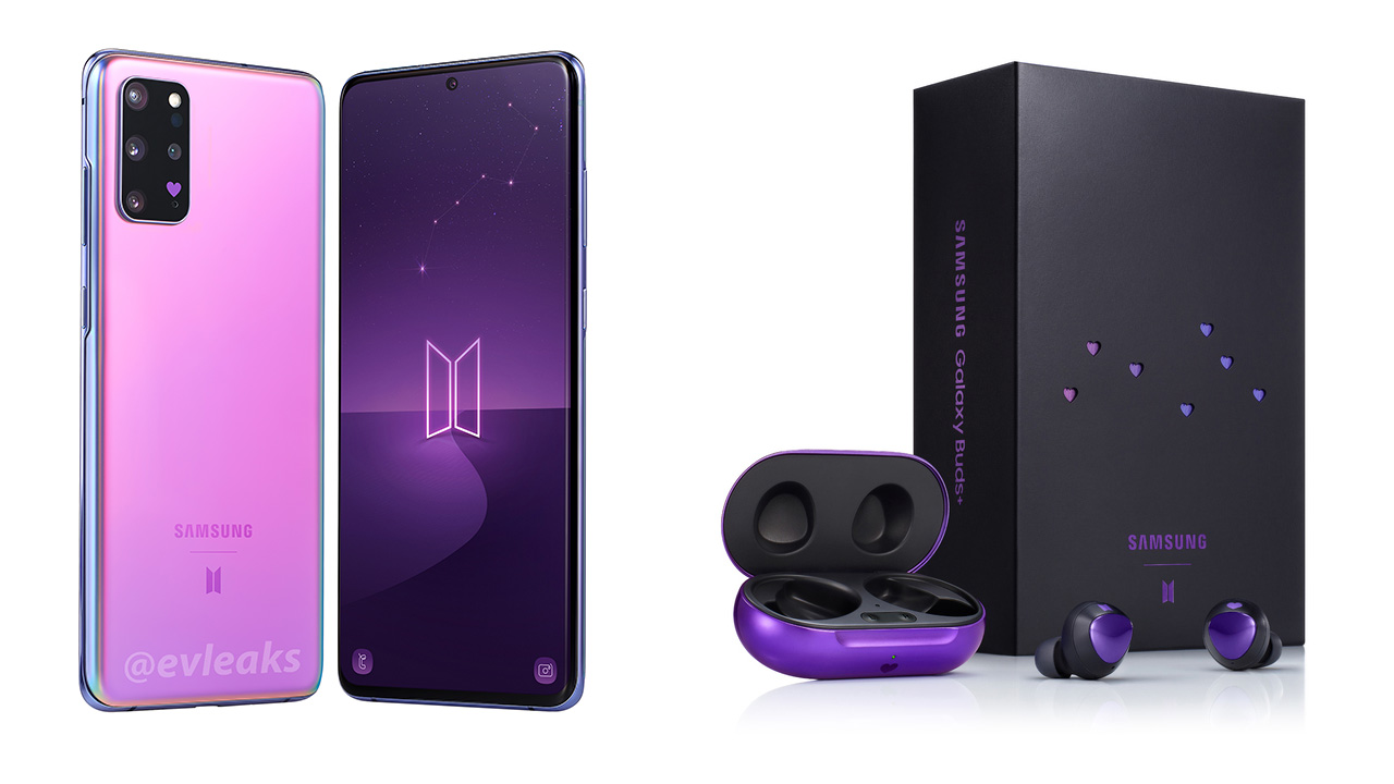 Samsung Galaxy S20 and buds BTS Edition